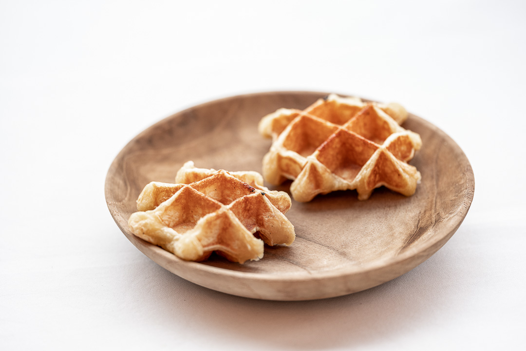 L'Envie by Hungry for More. Homemade waffles by chef David Grosdent.