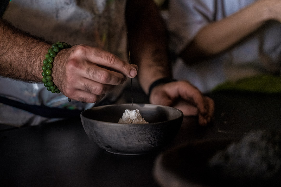 The White Rabbit by Hungry for More. Chef Vladimir Mukhin finishing a dish.