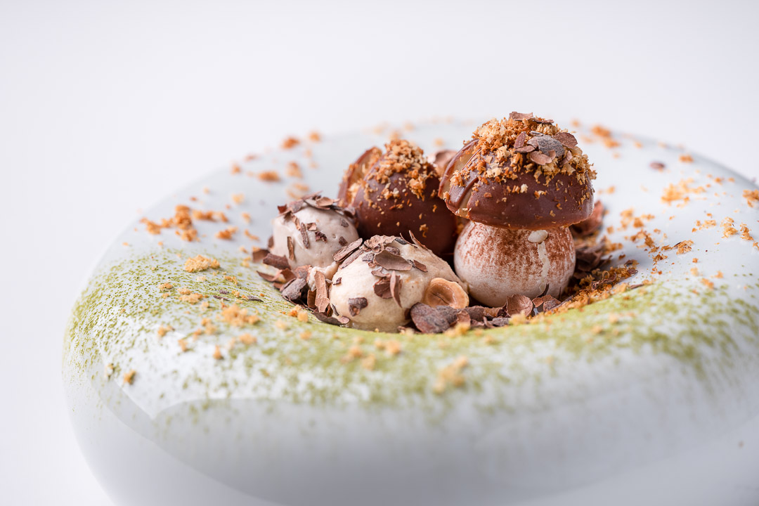 Alain Bianchin by Hungry for More. Details of the sweet chestnut dessert by chef Alain Bianchin.