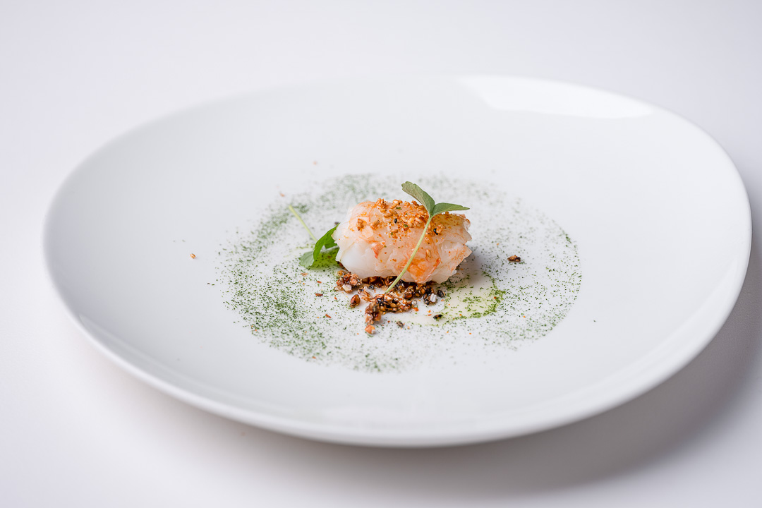 Alain Bianchin by Hungry for More. Langoustine dish by chef Alain Bianchin.