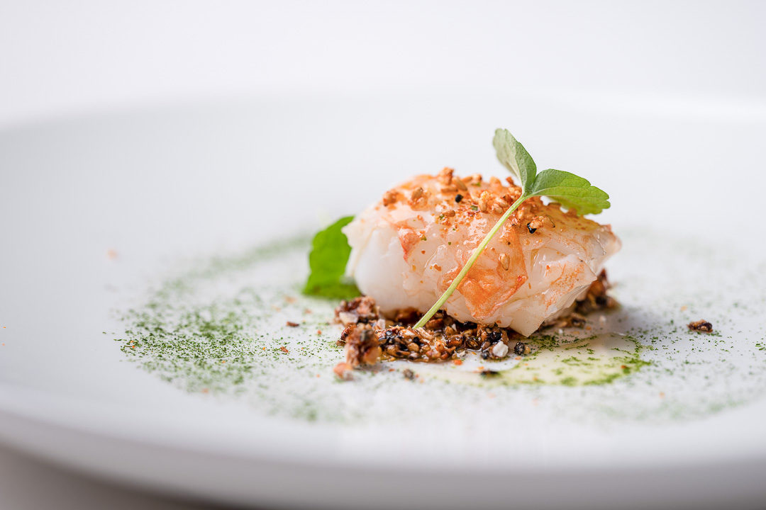 Alain Bianchin by Hungry for More. Details of the langoustine by chef Alain Bianchin.