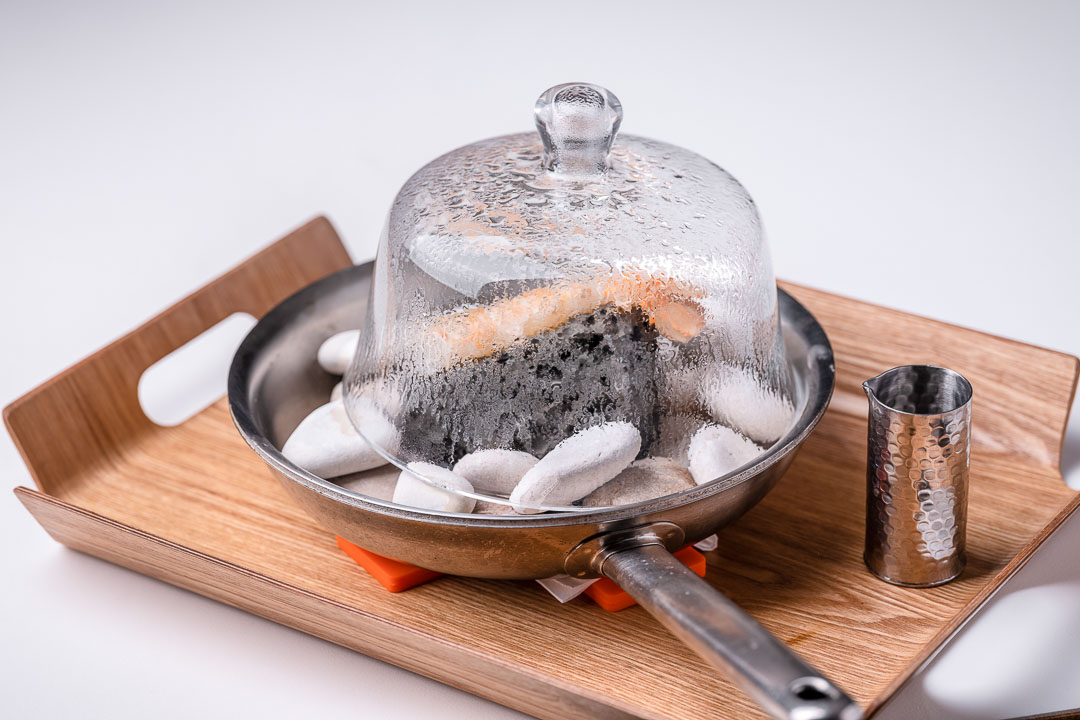 Alain Bianchin by Hungry for More. Langoustine on a lava rock by chef Alain Bianchin.