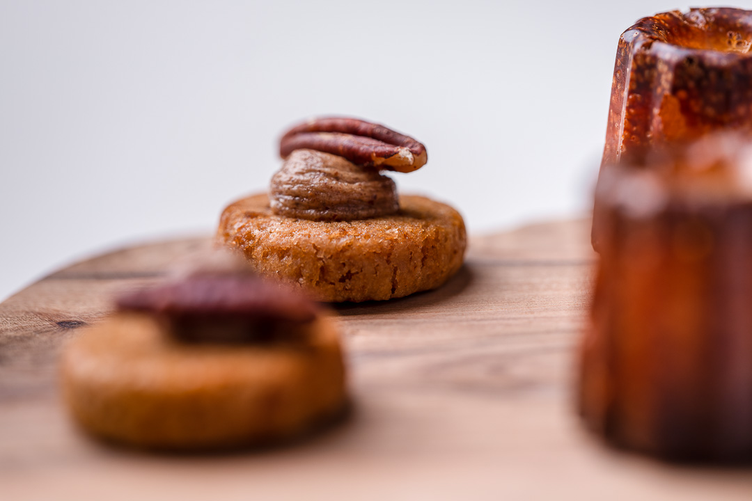 Alain Bianchin by Hungry for More. Details of a pecan biscuit by chef Alain Bianchin.