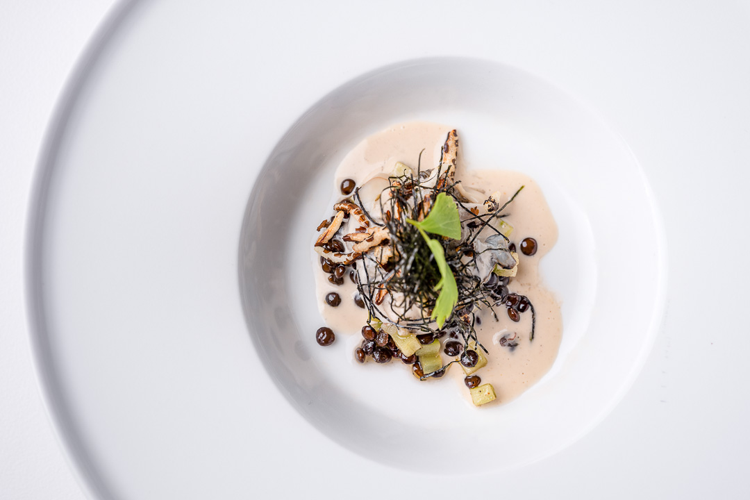 Alain Bianchin by Hungry for More. Top shot of the oyster dish by chef Alain Bianchin.