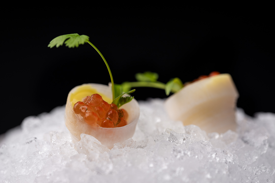 RIJKS by Hungry for More. Appetizer with langoustine by chef Joris Bijdendijk.