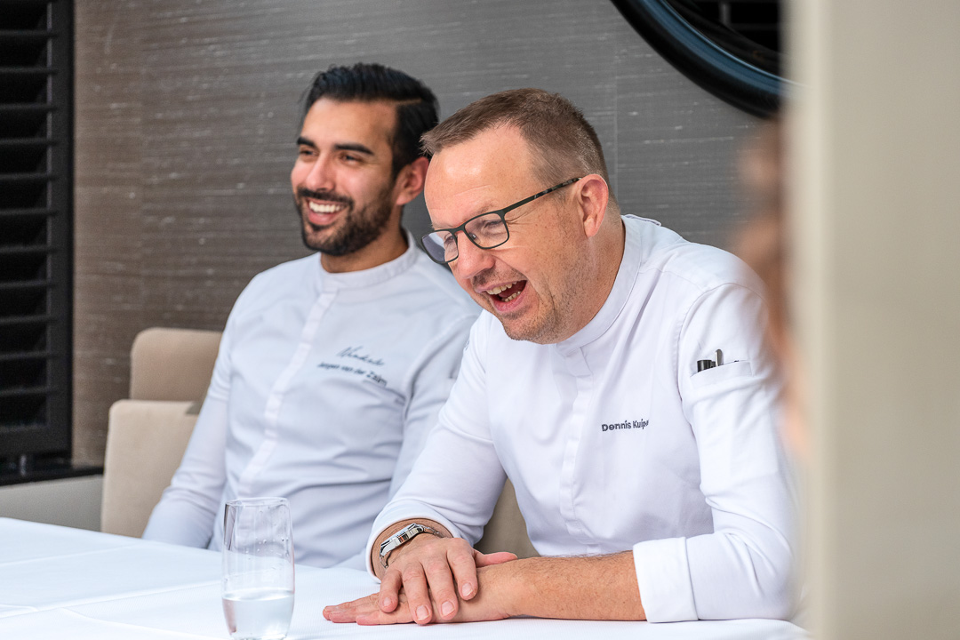 Chefs Dennis & Jurgen talking during the interview.