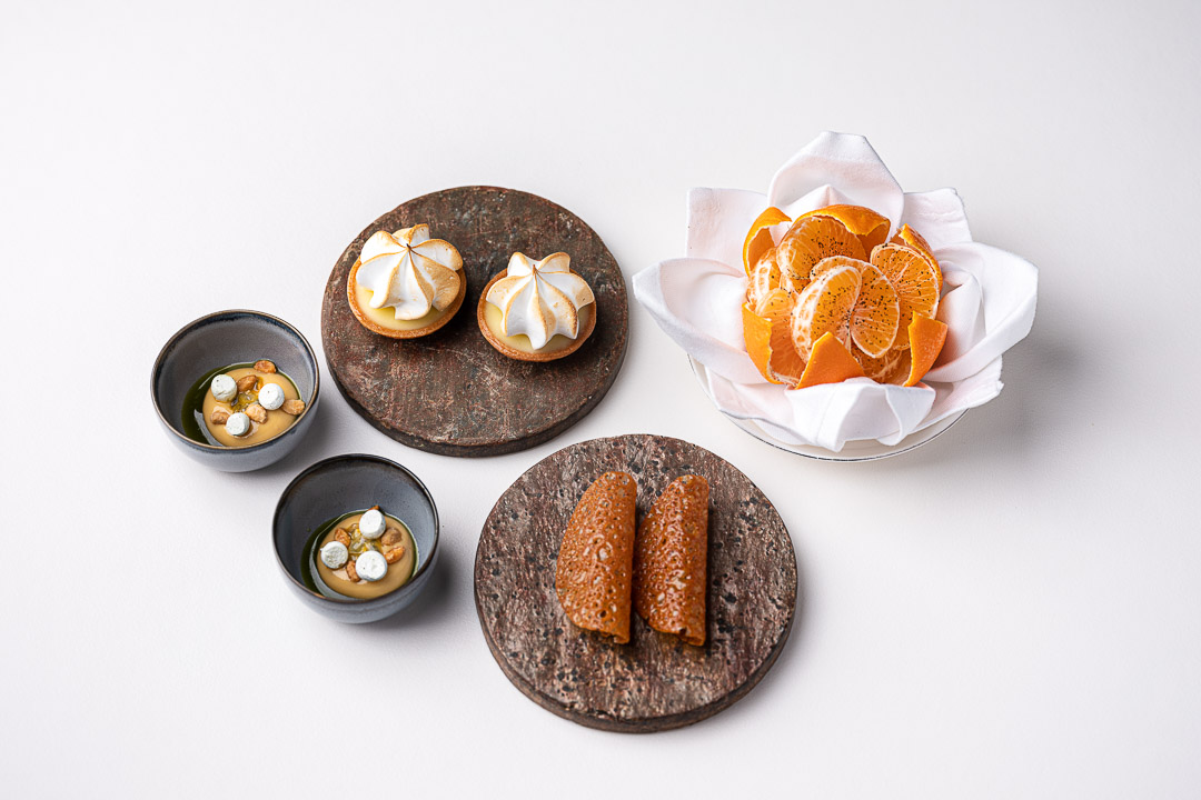Vinkeles by Hungry for More. Overall shot of the mignardises by chefs Dennis & Jurgen.