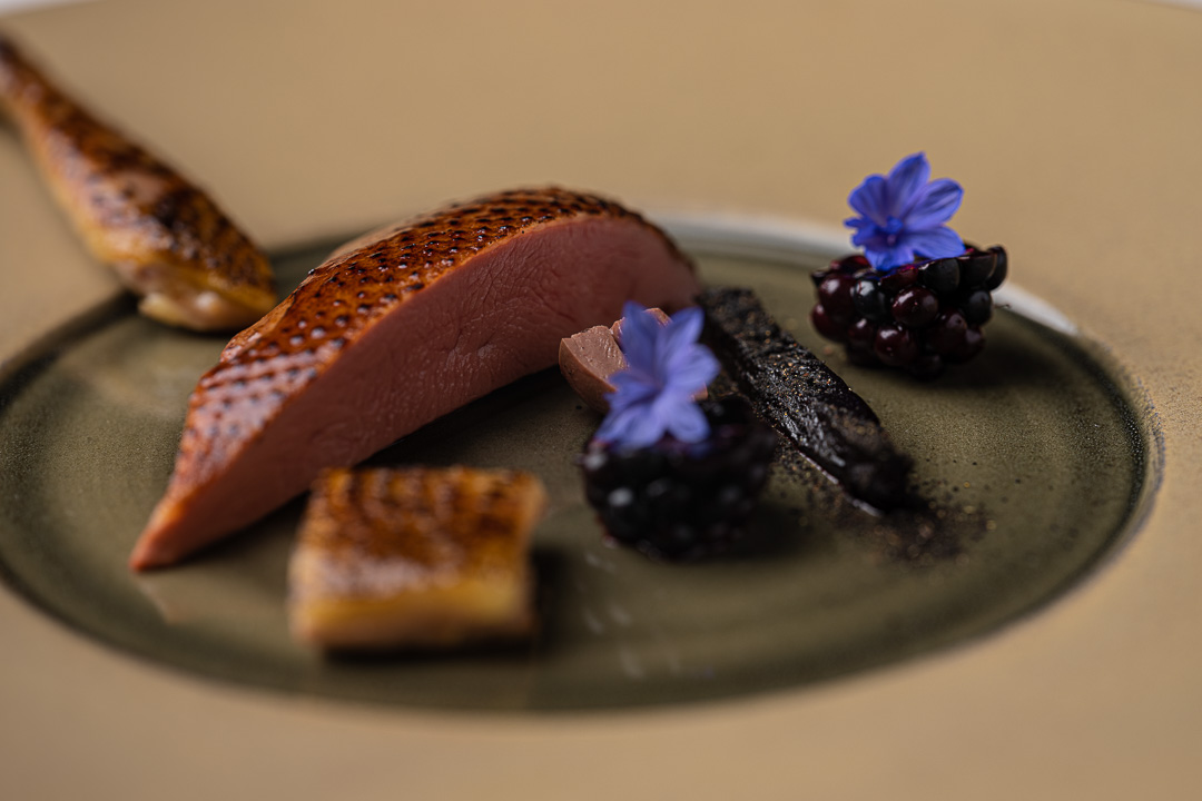 Vinkeles by Hungry for More. Details of the pigeon dish by chefs Dennis & Jurgen.
