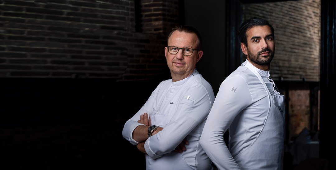 Vinkeles by Hungry for More. Portrait picture of chefs Dennis & Jurgen.