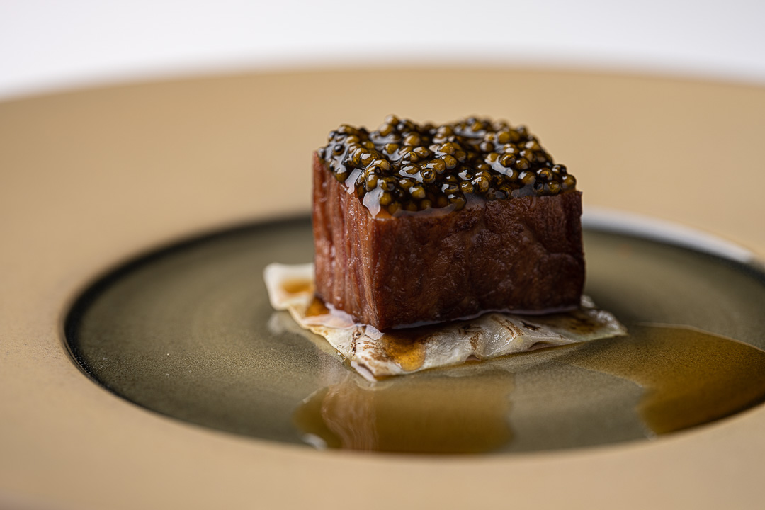 Vinkeles by Hungry for More. Details of the wagyu dish by chefs Dennis & Jurgen.
