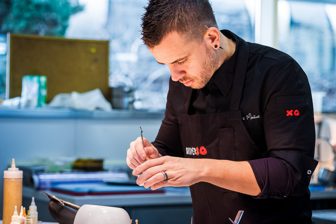 DiverXO by Hungry for More. Chef David Munoz in action.