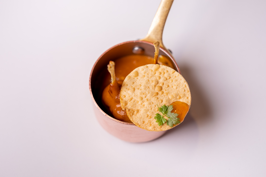DiverXO by Hungry for More. Butter chicken masala by chef David Munoz.