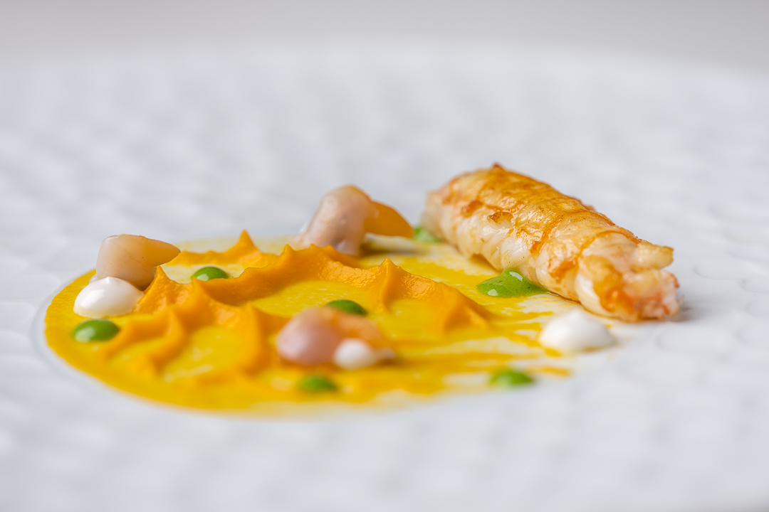 Gaytan by Hungry for More. Detail of the langoustine.
