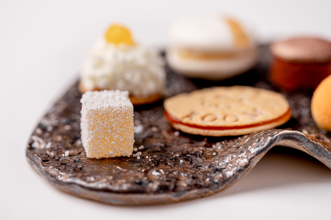 The White Room by Hungry for More. Close-up of the mignardises by chefs Jacob Jan Boerma and Randy Karman.