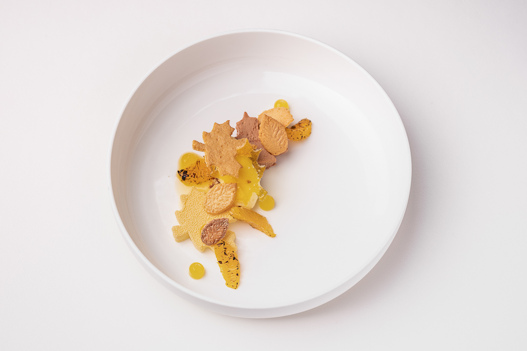 The White Room by Hungry for More. Dessert of mandarin, chocolate, cinnamon and sponge fingers.