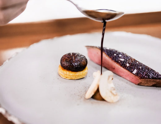 Aged duck and sweet tamarind by chef Jim Ophorst of PRU restaurant.