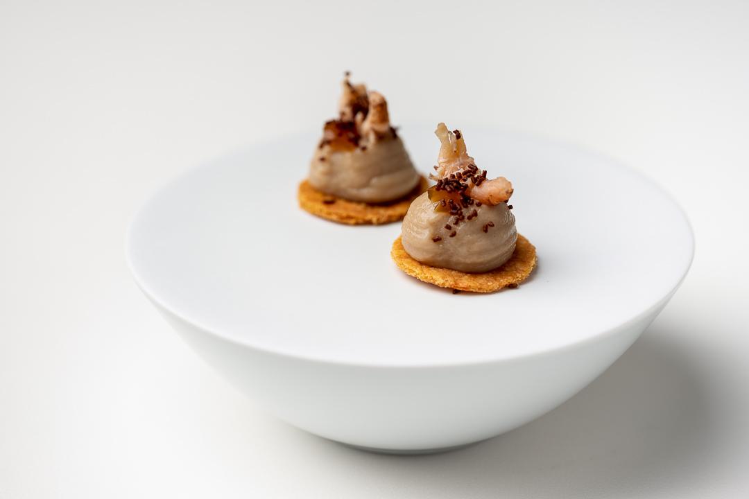 La Canne en Ville by Hungry for More. Sablé breton appetizer by chef Kevin Lejeune.
