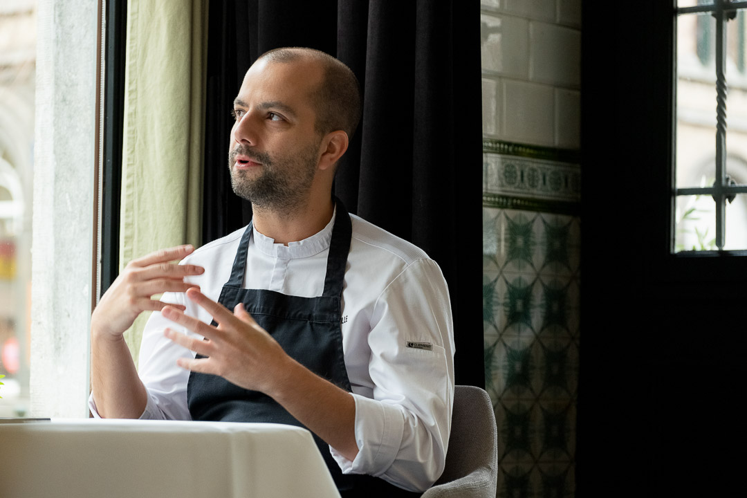 La Canne en Ville by Hungry for More. Chef Kevin Lejeune talking during interview.
