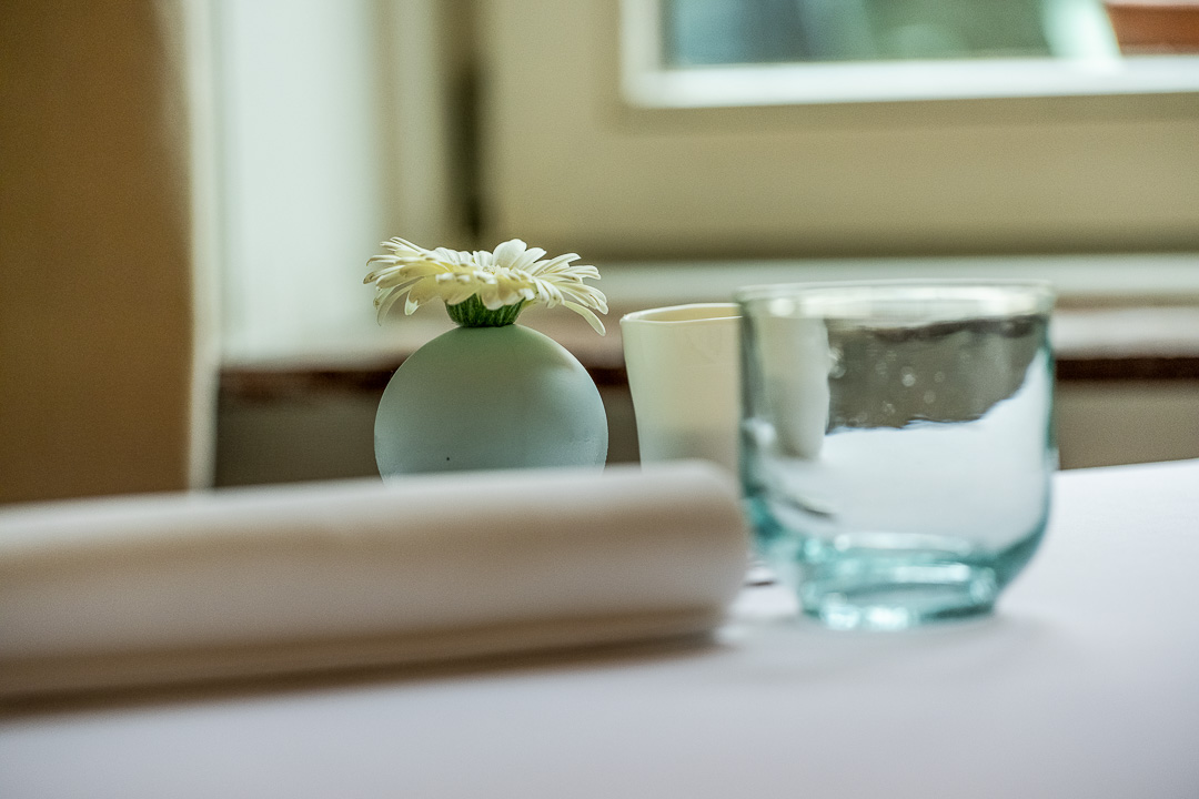 La Canne en Ville by Hungry for More. Details of the tableware at the restaurant.