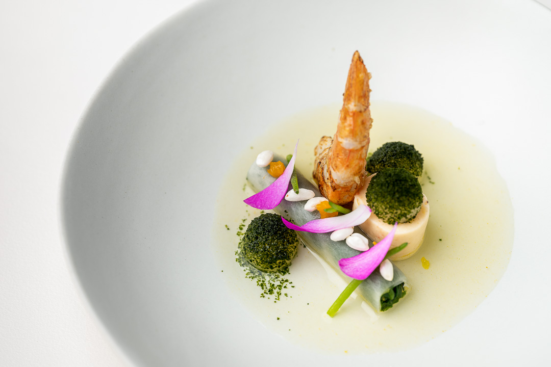 La Canne en Ville by Hungry for More. Details of the first course with langoustine.