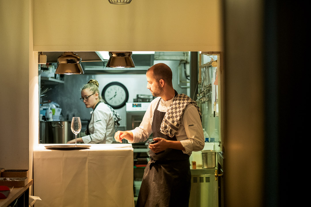 La Canne en Ville by Hungry for More. View of the open kitchen at the restaurant.
