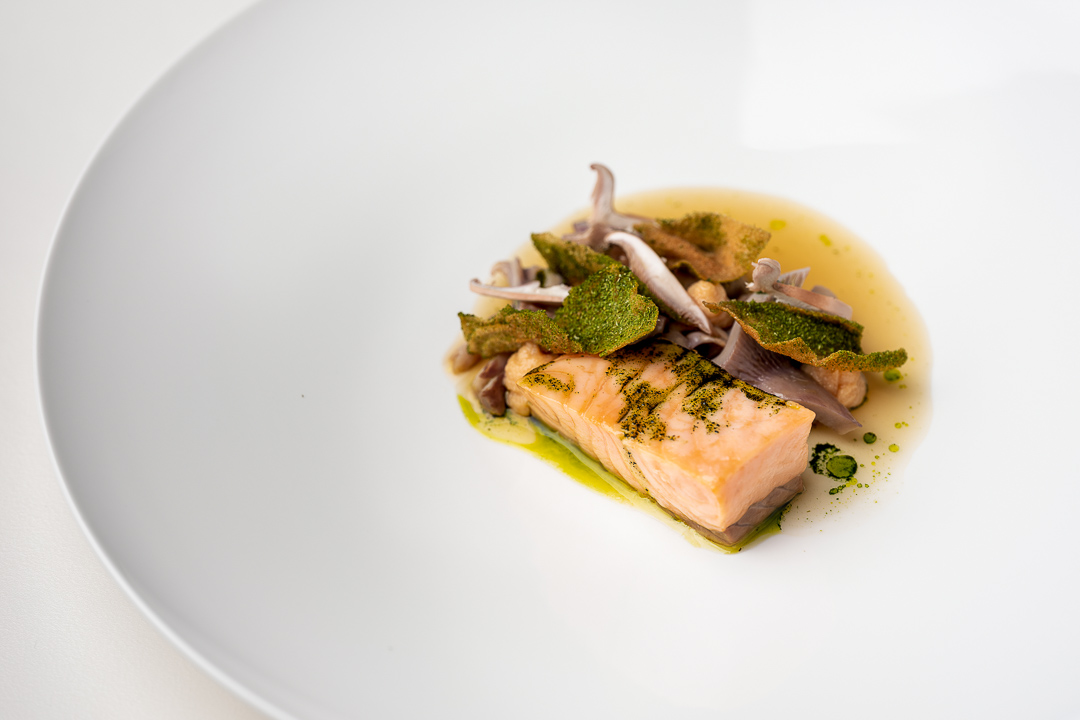 La Canne en Ville by Hungry for More. Details of the salmon dish by chef Kevin Lejeune.