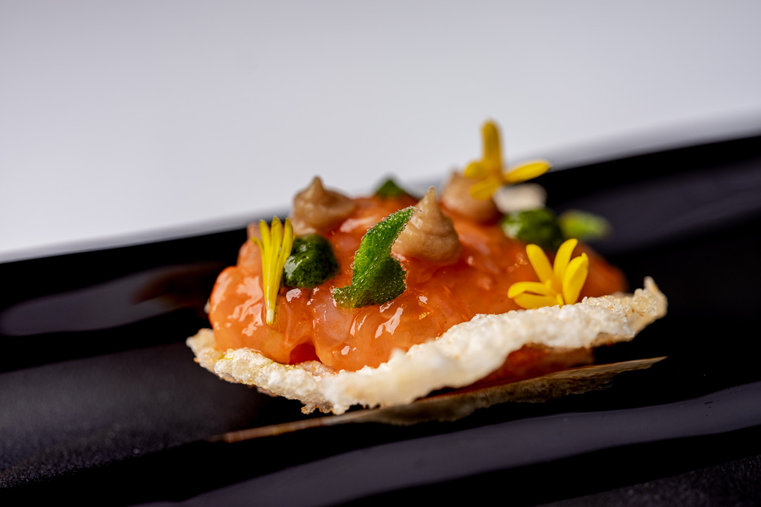 Paco Roncero by Hungry for More. Details of the canapé by chef Paco Roncero.