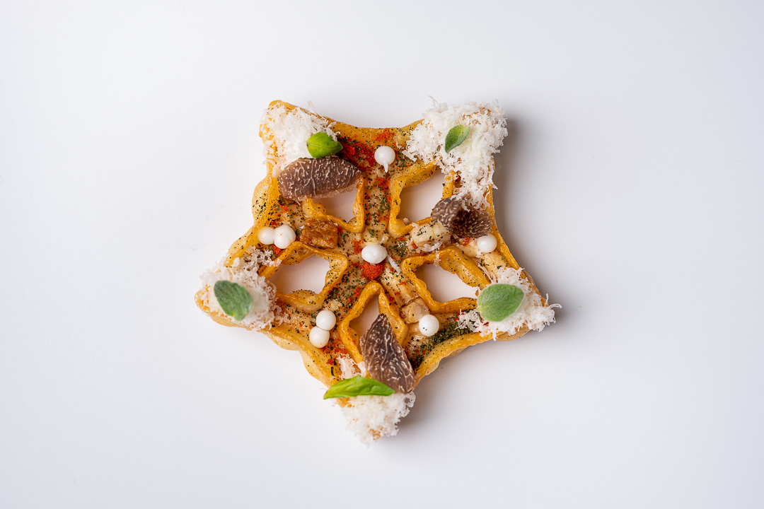 Paco Roncero by Hungry for More. A carbonara star by chef Paco Roncero.