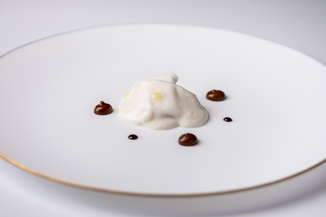 Paco Roncero by Hungry for More. A dish with hake and crab by chef Paco Roncero.