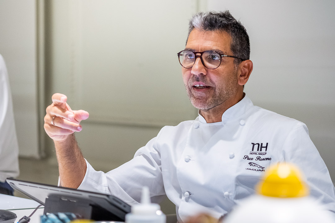 Paco Roncero by Hungry for More. Chef Paco Roncero talking during the interview.