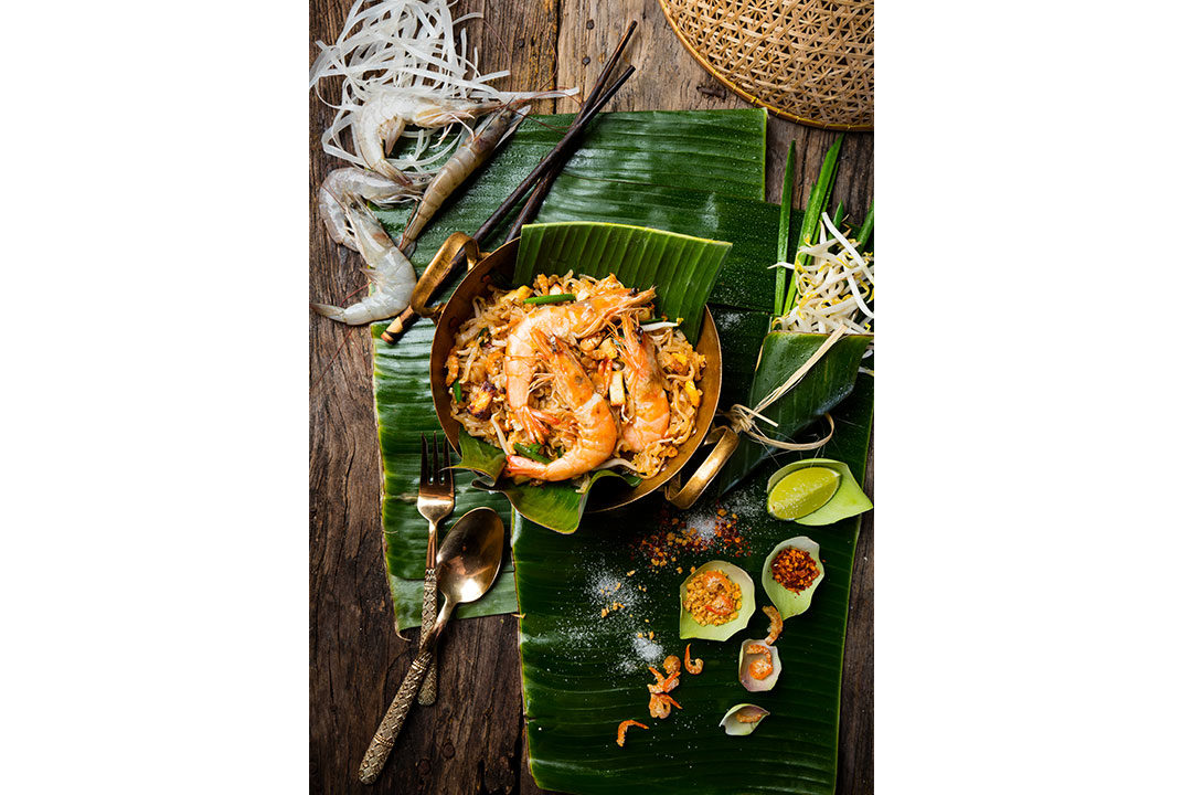 The authenic recipe of the Thai dish Phad Thai.