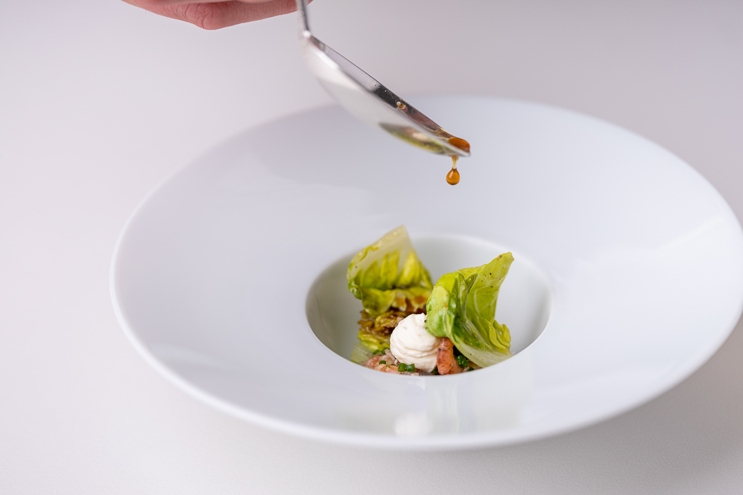 Colette - De Vijvers by Hungry for More. Sucrine, grijze noordzeegarnaal en zure room.