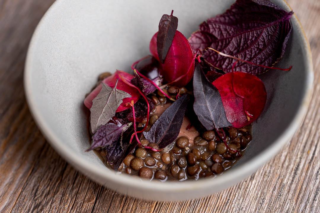 Heritage by Hungry for More. Lentils, beetroot, cherry and cocoa.
