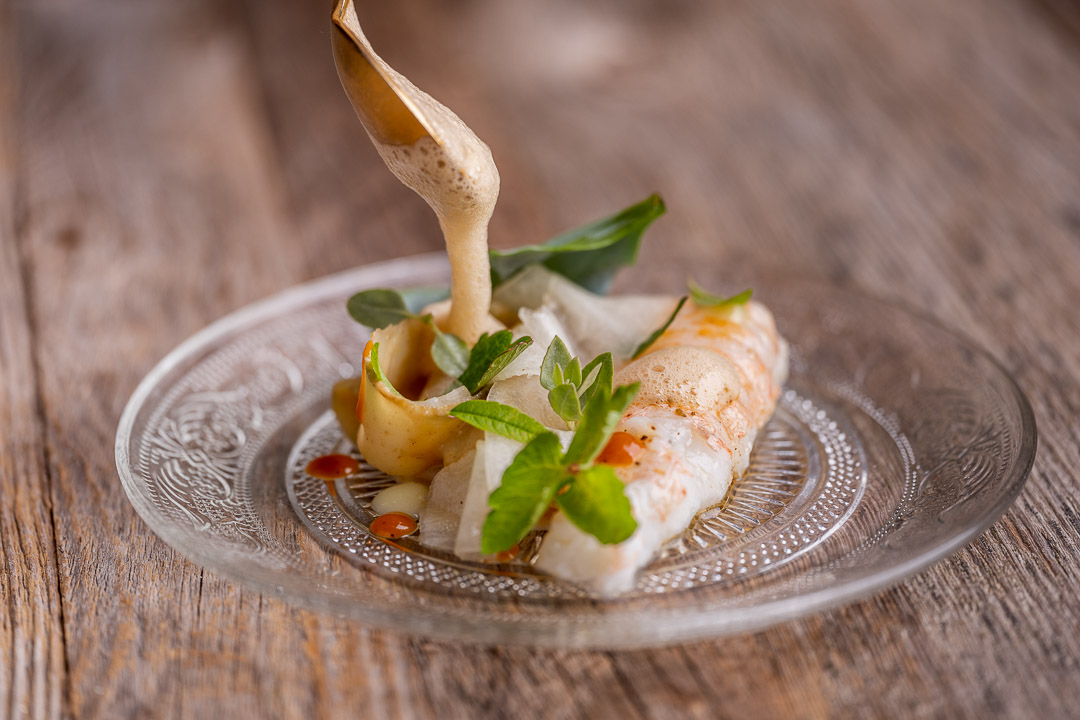 Heritage by Hungry for More. Langoustine, artichoke and melon.