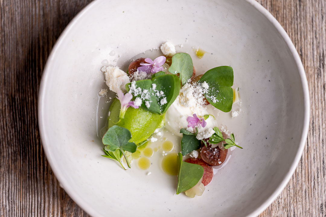 Heritage by Hungry for More. Sorrel, yogurt, gooseberry and lady's bedstraw.