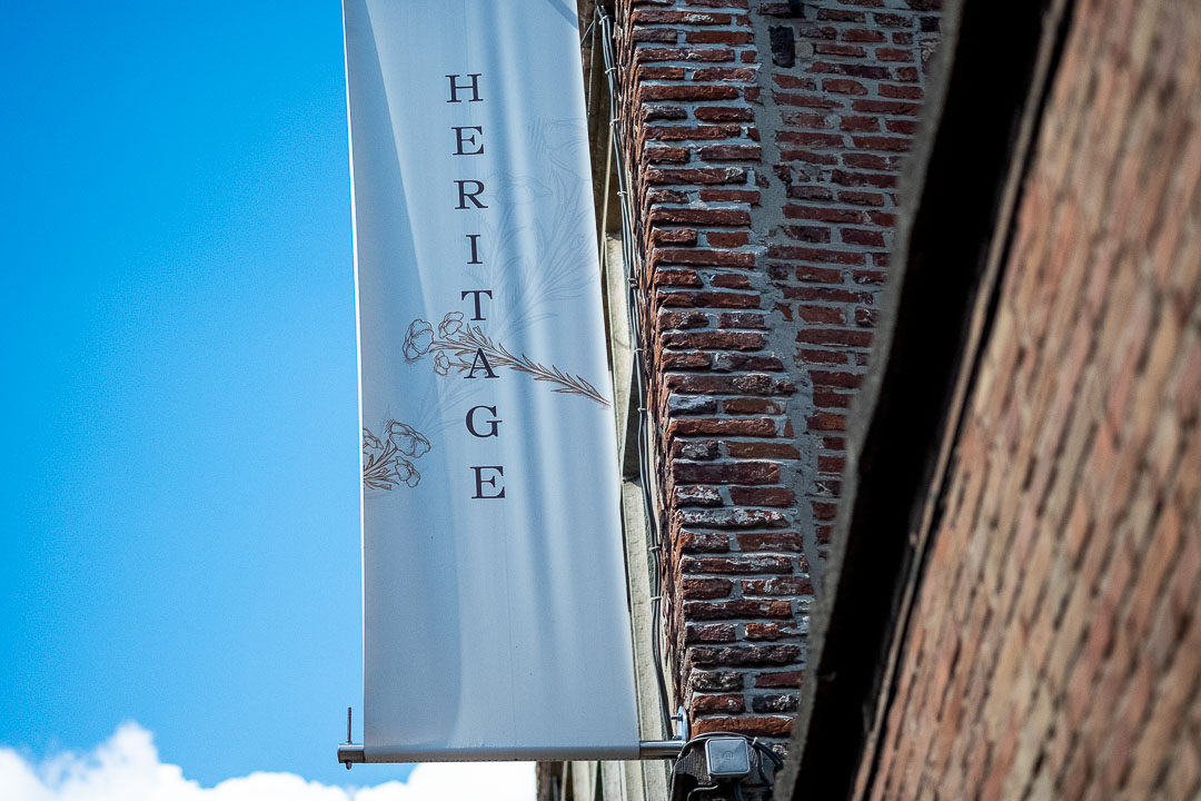Heritage by Hungry for More. Heritage exterior sign.
