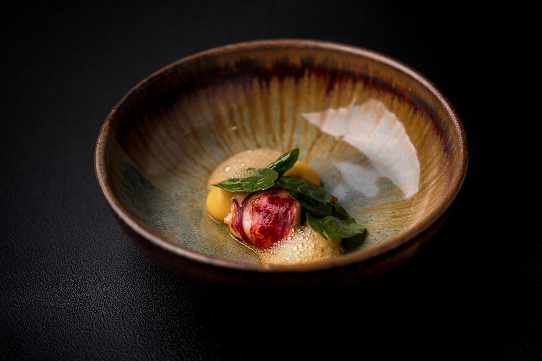Le gastronome By Hungry For More - Kreeft, spinazie, eigeel en emulsie van krab