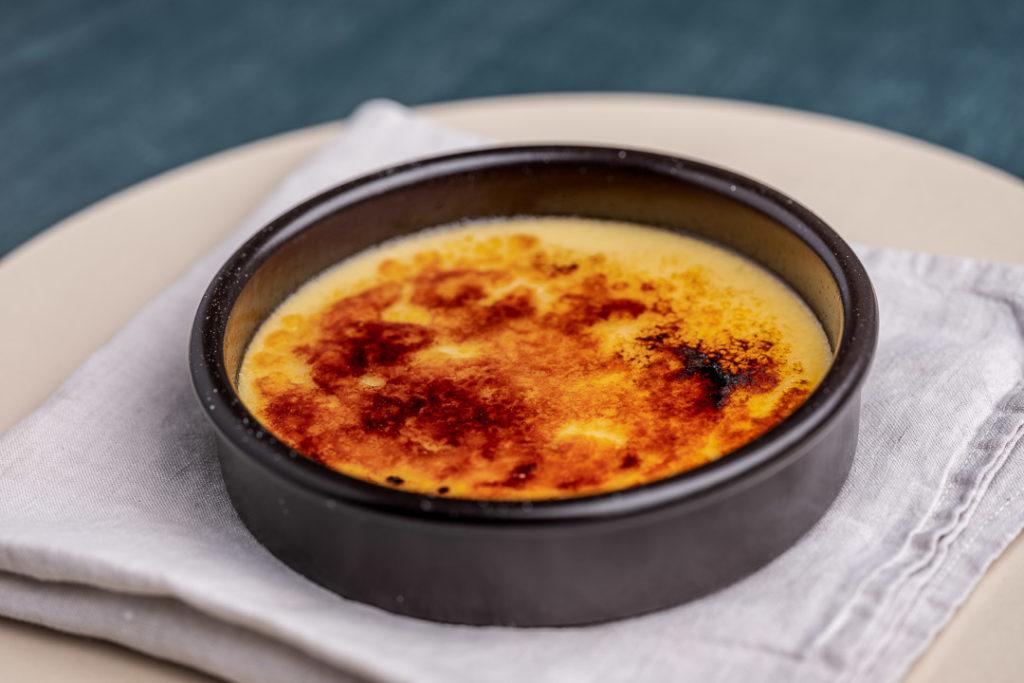A cheese dish, crème brûlée of 'Epoisse'