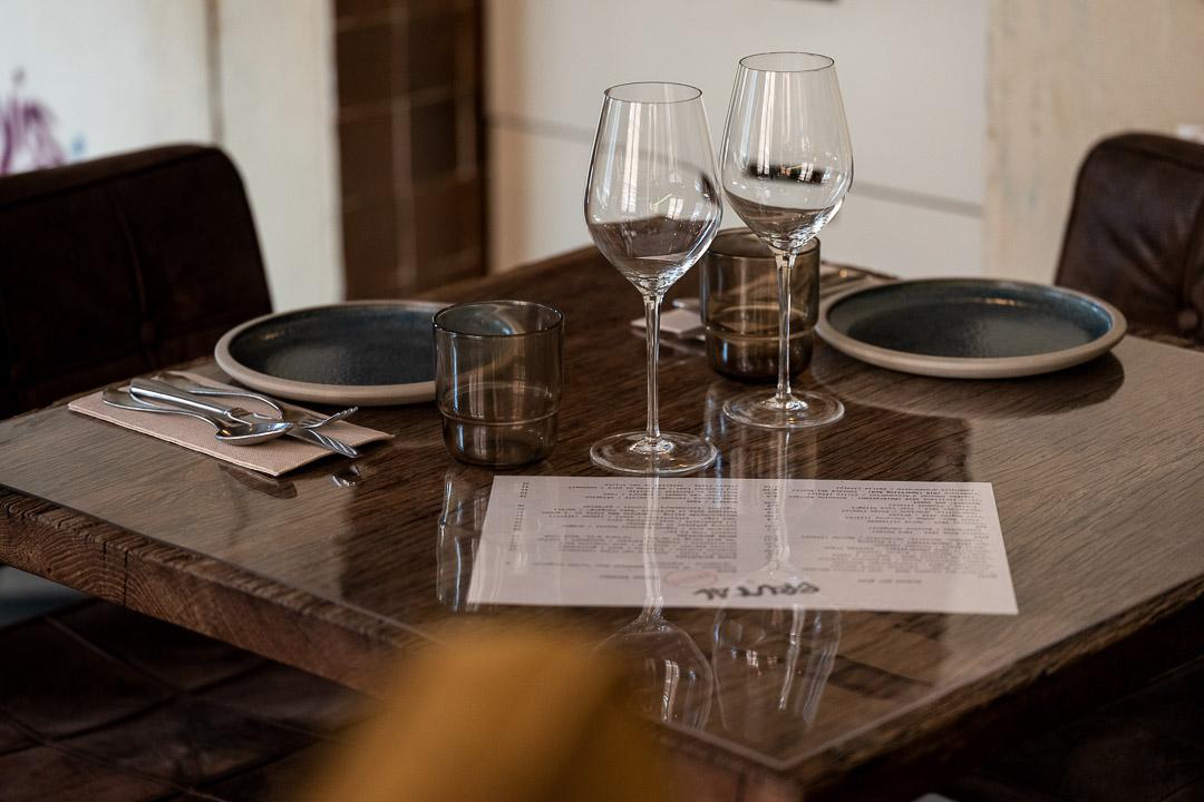 tafel interieur Bistro Bruut