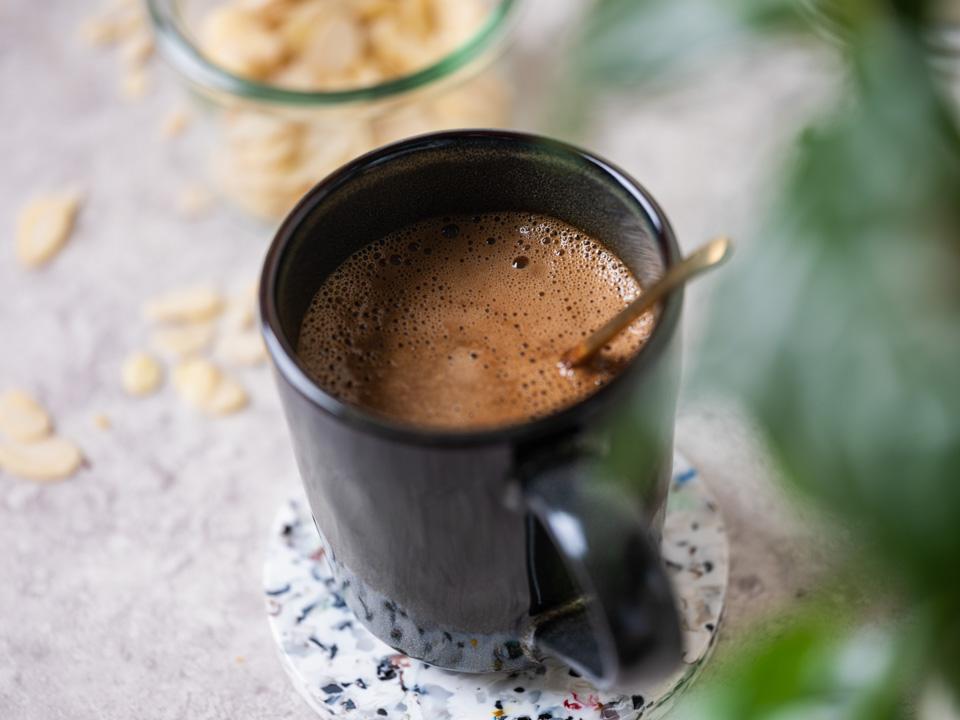 A warm cup of fresh coffee